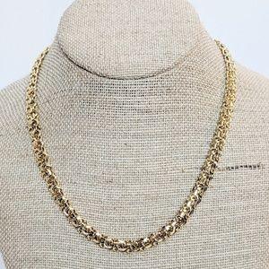 Trifari Gold Tone Unique Thicker Chain Necklace